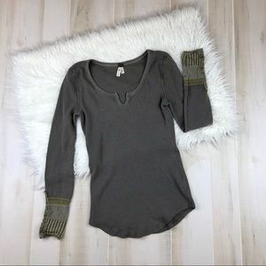 Free People We The Free Thermal Green Size Large